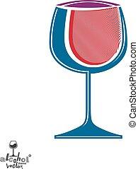 rosa, calice, grafico, stile di vita, illustration., classico, wineglass, romantico, idea., elegante, tema, disegno, artistico, appuntamento, elegante, vino, element., alcool