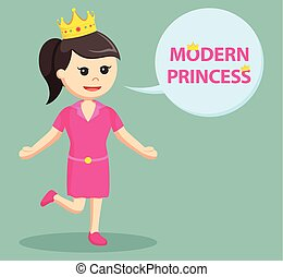 rosa, callout, vestire, moderno, principessa