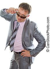 rosa, !, camicia, affari, isolated., serie, mordente, questo, passionately, sexy, attraente, fondo, cravatta, portafoglio, bianco, uomo, mio, più