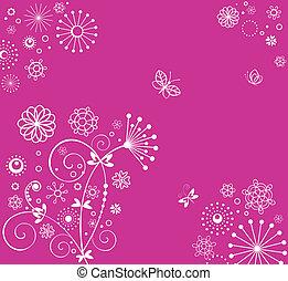 rosa, carino, augurio, fondo
