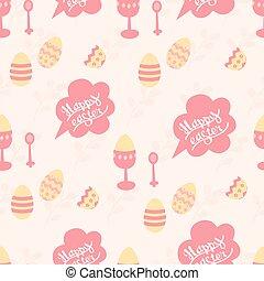 """rosa, carino, """"happy, modello pastello, easter"""", colori, fondo, vacanza"""