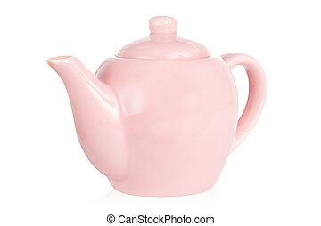 rosa, carino, ritaglio, isolato, contro, percorso, bianco, ...