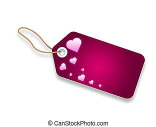 rosa, cartellino del prezzo