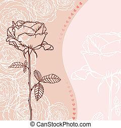 rosa, cartolina auguri
