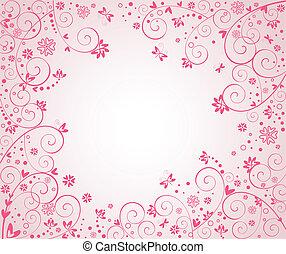 rosa, cartolina, augurio