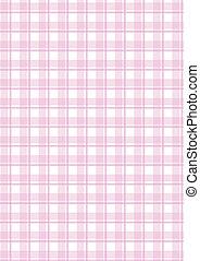 rosa, checkered, vettore, fondo
