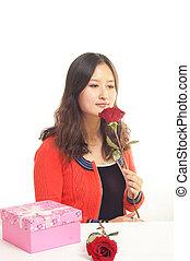 rosa, chino, mujeres