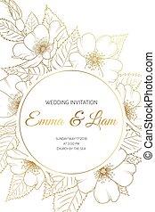 rosa, ciliegia, invito, sakura, matrimonio, scheda selvatica
