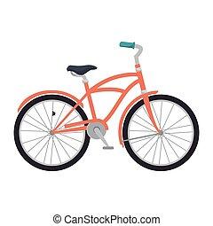 rosa, clásico, bicicleta