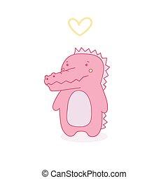rosa, coccodrillo
