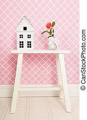 rosa colore rosa, singolo, interno