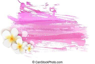 rosa, colored., flowers., spazzolato, sfondi