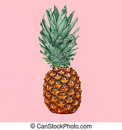 rosa, colorido, foto, ananas, fruta, plano de fondo, piña