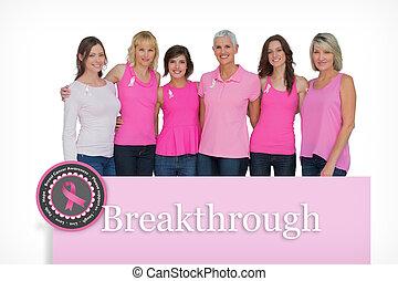 rosa, compuesto, imagen, Tapas,  breas, Posar, sonriente, mujeres
