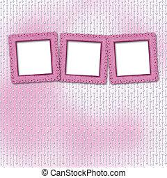 rosa, congratulazione, perla, fondo, invito, o, scheda