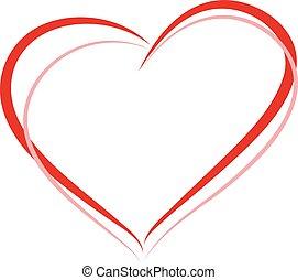 rosa, corazón, pareja, forma, señal, lesbiana, rojo