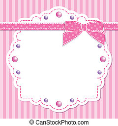 rosa, cornice, arco