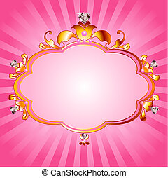 rosa, cornice, principessa