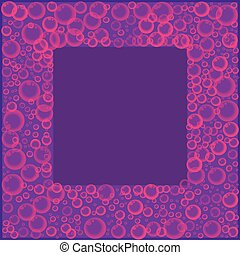 rosa, cornice, viola, sapone, fondo., soda, bolle, o