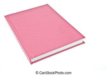 rosa, cubierta de libro