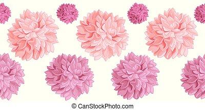 rosa, cumpleaños, grande, conjunto, poms, designs., hechaa...