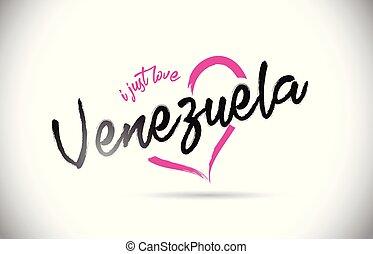 rosa, cuore, amore, giusto, testo, forma., parola, font, venezuela, scritto mano