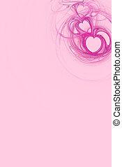 rosa, cuore, copia, disegno, spazio