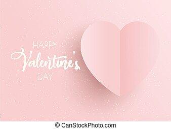rosa, cuore, giorno, fondo, valentine