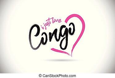 rosa, cuore, parola, giusto, testo, forma., congo, amore, font, scritto mano