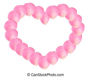 rosa, cuore, rosa
