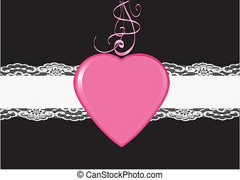 rosa, cuore