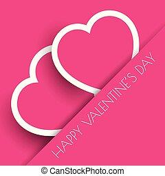 rosa, cuori, giorno, fondo, valentine
