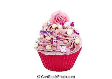rosa, cupcake