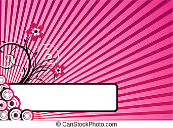 rosa, design, bakgrund