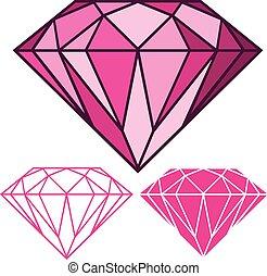 rosa, diamante