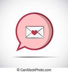 rosa, discorso, messaggio, amore, bolla
