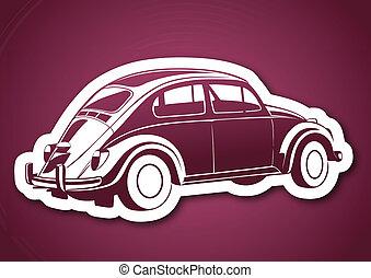 rosa, dolce, sopra, vecchio, auto