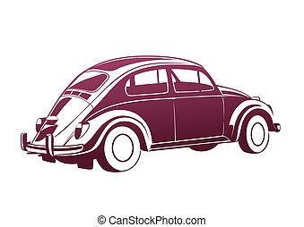 rosa, dolce, vecchio, auto
