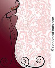 rosa, donna, fiori