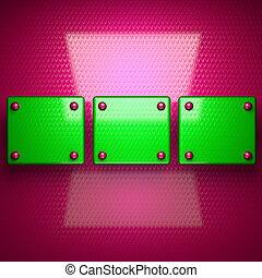 rosa, e, verde, luminoso, fondo