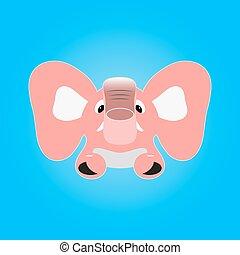 rosa, elefant