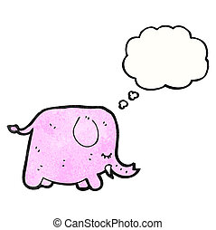 rosa, elefant, karikatur