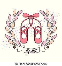 rosa, elegante, balletto ferra, nastro