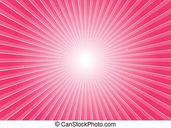 rosa, explosion, raum