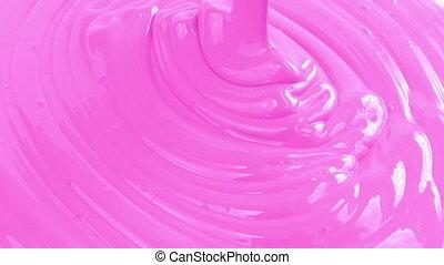 rosa, farbe, gießen