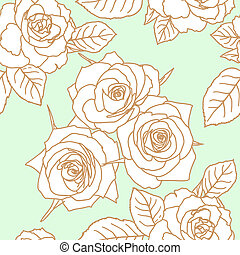 rosa, fiori, seamless, carta da parati