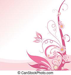 rosa, floral