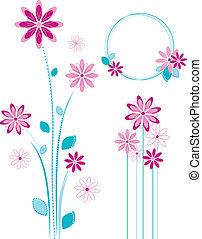 rosa florece, design.