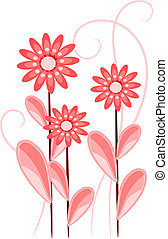 rosa florece, -, rojo, belleza