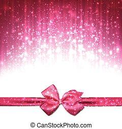 rosa, fondo., astratto, natale